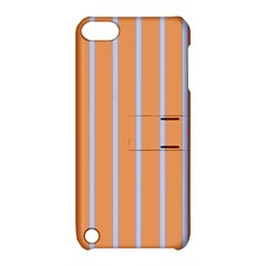 Rayures Bleu Orange Apple Ipod Touch 5 Hardshell Case With Stand