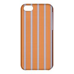 Rayures Bleu Orange Apple Iphone 5c Hardshell Case