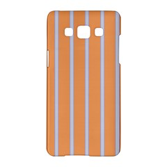 Rayures Bleu Orange Samsung Galaxy A5 Hardshell Case
