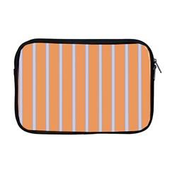 Rayures Bleu Orange Apple Macbook Pro 17  Zipper Case