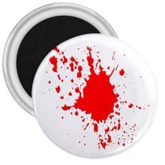 Red Blood Splatter 3  Magnets