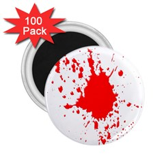 Red Blood Splatter 2 25  Magnets (100 Pack)