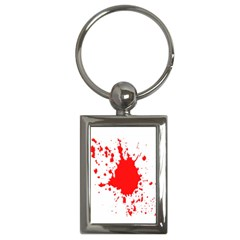Red Blood Splatter Key Chains (rectangle)