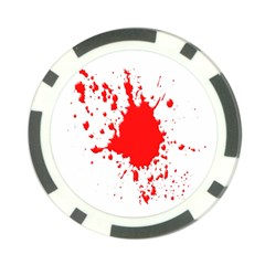 Red Blood Splatter Poker Chip Card Guard (10 Pack)