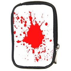 Red Blood Splatter Compact Camera Cases