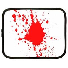 Red Blood Splatter Netbook Case (xxl)