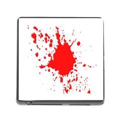 Red Blood Splatter Memory Card Reader (square)