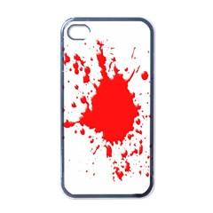 Red Blood Splatter Apple Iphone 4 Case (black)
