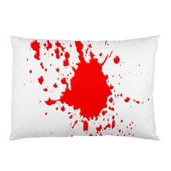 Red Blood Splatter Pillow Case (two Sides)