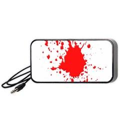 Red Blood Splatter Portable Speaker (black)