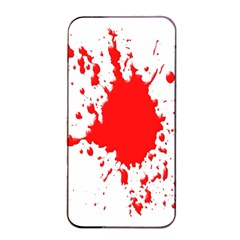 Red Blood Splatter Apple Iphone 4/4s Seamless Case (black)