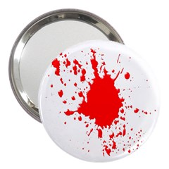 Red Blood Splatter 3  Handbag Mirrors