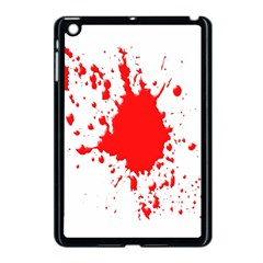 Red Blood Splatter Apple Ipad Mini Case (black)