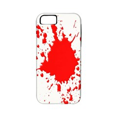 Red Blood Splatter Apple Iphone 5 Classic Hardshell Case (pc+silicone)