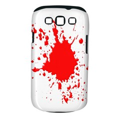 Red Blood Splatter Samsung Galaxy S Iii Classic Hardshell Case (pc+silicone)