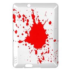 Red Blood Splatter Kindle Fire Hdx Hardshell Case
