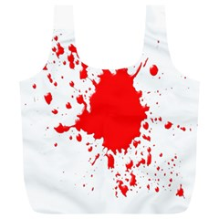 Red Blood Splatter Full Print Recycle Bags (l)