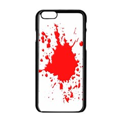 Red Blood Splatter Apple Iphone 6/6s Black Enamel Case