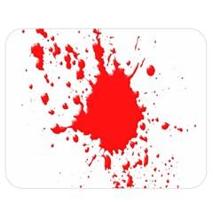 Red Blood Splatter Double Sided Flano Blanket (medium)