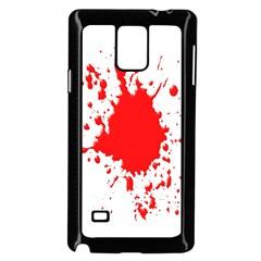 Red Blood Splatter Samsung Galaxy Note 4 Case (black)