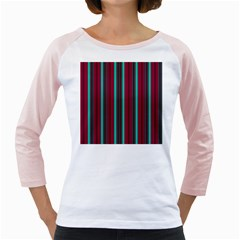 Red Blue Line Vertical Girly Raglans