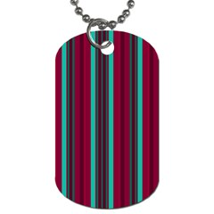 Red Blue Line Vertical Dog Tag (two Sides)