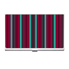 Red Blue Line Vertical Business Card Holders