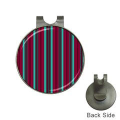 Red Blue Line Vertical Hat Clips With Golf Markers