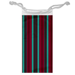 Red Blue Line Vertical Jewelry Bag