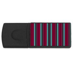 Red Blue Line Vertical Rectangular Usb Flash Drive