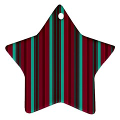 Red Blue Line Vertical Star Ornament (two Sides)