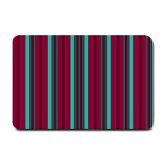 Red Blue Line Vertical Small Doormat