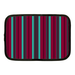 Red Blue Line Vertical Netbook Case (medium)