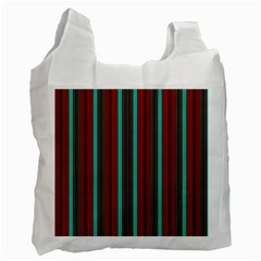 Red Blue Line Vertical Recycle Bag (two Side)