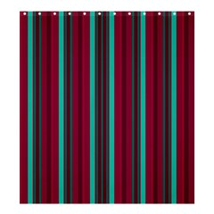 Red Blue Line Vertical Shower Curtain 66  X 72  (large)