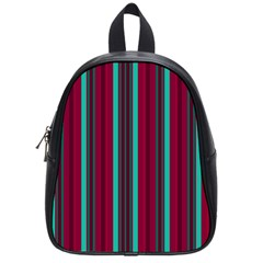 Red Blue Line Vertical School Bag (small)