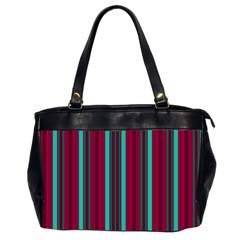 Red Blue Line Vertical Office Handbags (2 Sides)