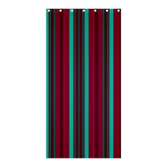Red Blue Line Vertical Shower Curtain 36  X 72  (stall)