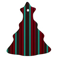 Red Blue Line Vertical Ornament (christmas Tree)