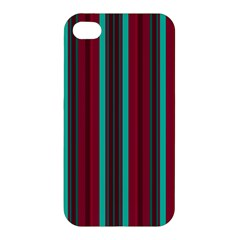 Red Blue Line Vertical Apple Iphone 4/4s Hardshell Case