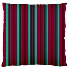 Red Blue Line Vertical Large Cushion Case (one Side)
