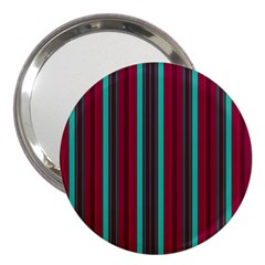 Red Blue Line Vertical 3  Handbag Mirrors
