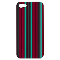 Red Blue Line Vertical Apple Iphone 5 Hardshell Case