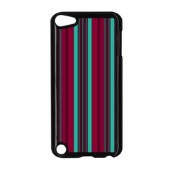 Red Blue Line Vertical Apple Ipod Touch 5 Case (black)