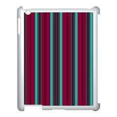 Red Blue Line Vertical Apple Ipad 3/4 Case (white)