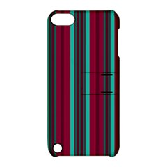 Red Blue Line Vertical Apple Ipod Touch 5 Hardshell Case With Stand