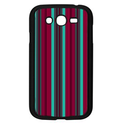 Red Blue Line Vertical Samsung Galaxy Grand Duos I9082 Case (black)