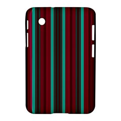Red Blue Line Vertical Samsung Galaxy Tab 2 (7 ) P3100 Hardshell Case