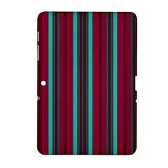 Red Blue Line Vertical Samsung Galaxy Tab 2 (10 1 ) P5100 Hardshell Case