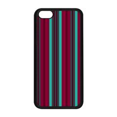 Red Blue Line Vertical Apple Iphone 5c Seamless Case (black)